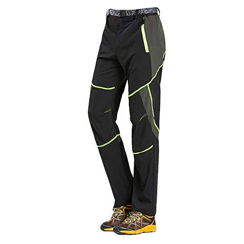 Herren Outdoors Schnell trocknende Hose Trekkinghose Herren Softshell-Hose Berghose Funktion Hose Skinny Jeans(Grün,XL)