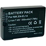 Batterie pour Nikon En-El14, 850 Mah, 7,4V Conrad Energy