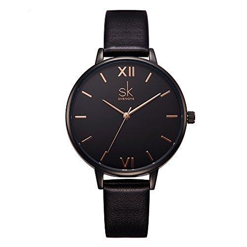 shengke señoras Reloj de Pulsera Creativas Mujeres Relojes Marca Reloj de Lujo Mujeres Malla Vestido Reloj k0039l