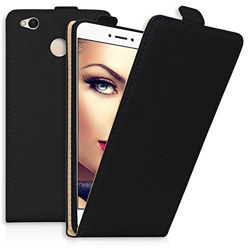 mtb more energy® Flip-Case Tasche für Xiaomi Redmi 4X / Redmi 4 Global (5.0'')   Schwarz   Kunstleder   Schutz-Tasche Cover Hülle