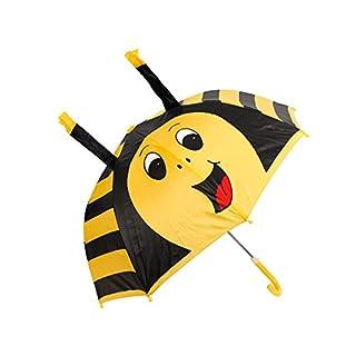 Alsino Kinder Regenschirm Kinderschirm Marienkäfer Frosch Ente Schirm Kinderregenschirm Jungen Mädchen, Variante wählen:61/1960 Biene