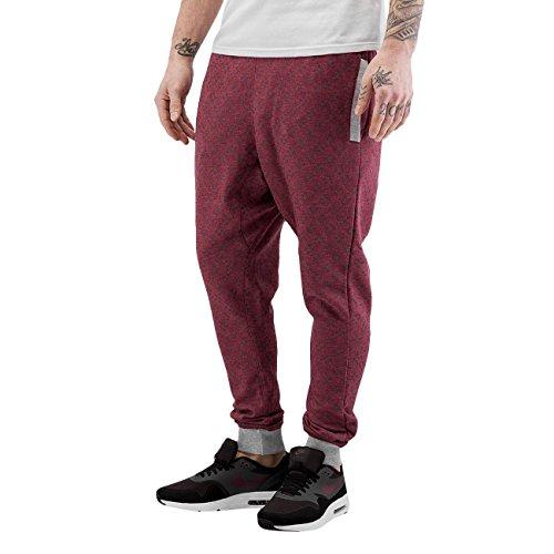 Just Rhyse Uomo Pantaloni / Pantalone ginnico Armidale Rosso