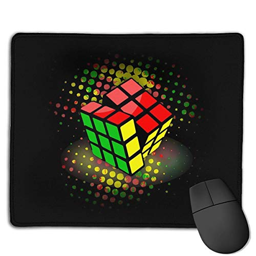 Preisvergleich Produktbild Mouse Pad Colorful Magic Cube Rectangle Rubber Mousepad 8.66 X 7.09 Inch Gaming Mouse Pad with Black Lock Edge