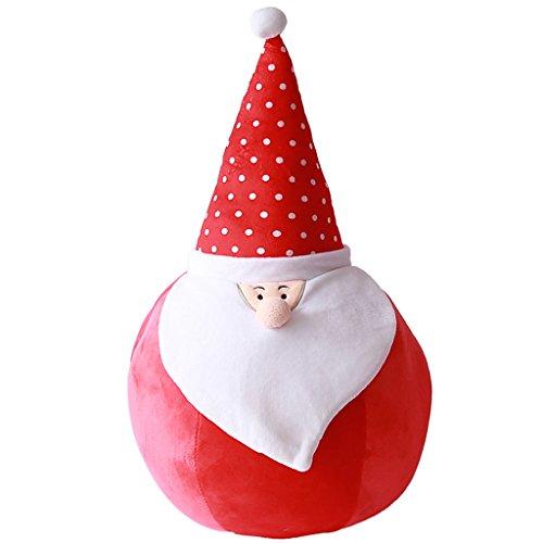 WYQLZ Cadeau de Noël Taie Oreiller Bureau à Domicile Chevet Canapé Coussin Décoration de Noël ( conception : Santa Claus-b , taille : Les petites )