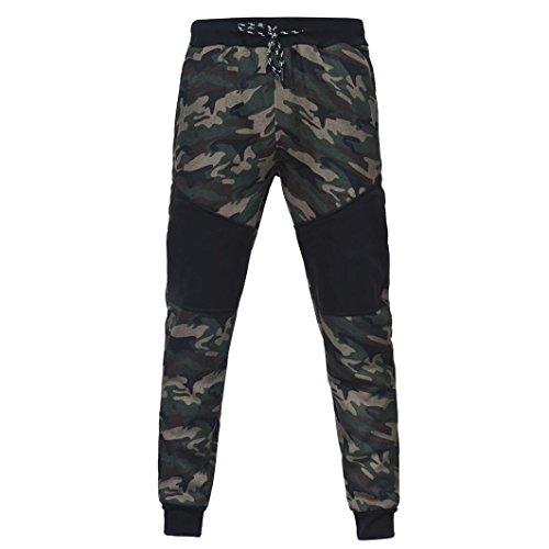 Preisvergleich Produktbild Herren Hosen Camouflage, Dragon868 Outdoor Camouflage Schwarz SpleißEn Kordelzug Hose Jogginghose Sportwear Herren Hosen Baggy (Schwarz,  XL)