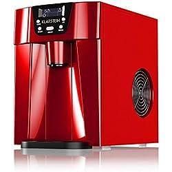 Klarstein Ice Volcano 2GR • Machine à glaçons • Réservoir d'eau de 2 litres • Compresseur haute capacité • Silencieuse • Panneau de commande intuitif • 2 tailles de glaçon au choix • Rouge