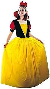 FIORI PAOLO-Blancanieves Disfraz Mujer Adulto Womens, Amarillo, talla 40-42, 62039