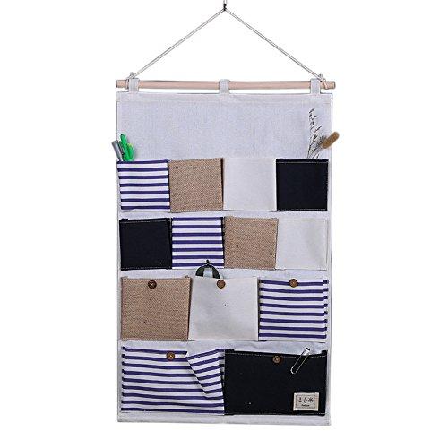Feicuan Wand Aufbewahrung Tasche, Tür Hängeaufbewahrung Stoff Pouch Case Home Organizers 13 Türtasche - Home-gesundheit-taschen