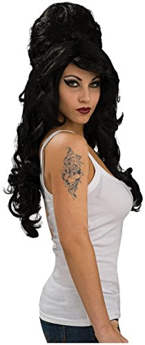 se Tattoo und Perücken Set (Amy Winehouse Kostüm)