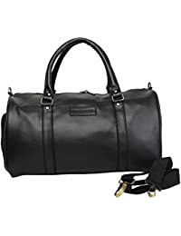 Willow & Smith Waterproof Leatherette Travel 27 Liter Duffle Sports Weekender Luggage Cabin Bag For Gym Men Women...