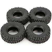 4 unids Rueda de Goma Neumático Neumático para RC 1/16 Rastreador de Coches de Escalada WPL B-1 / B-24 / C-14 / C-24 / B-16 Repuestos de Partes de Camiones Accesorios-Negro-1