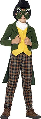 Hut Kind Deluxe Kostüm - Smiffys, Kinder Jungen Märchenprinz Deluxe Kostüm, Hut, Maske, Jacke, Westenattrappe, Halstuch und Hose, Größe: S, 44062