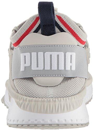 PUMA Men s Tsugi Jun Sneaker  Gray Violet White-Peacoat-Ribbon red  14 M US