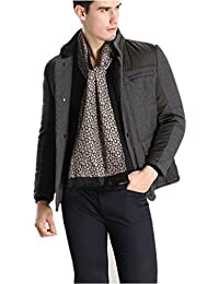 Prettystern -2-ply Men's soft & warm Scarf with Paisley Pattern - Crepe Satin silk & velvet silk