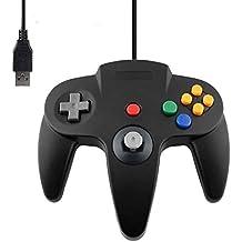 DARLINGTON & Sohns - Mando negro para Nintendo 64 N64 con conector USB para ordenador, joystick negro