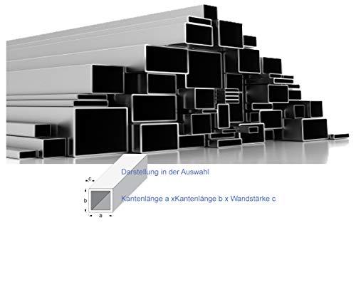 Quadrat- und Rechteckrohr Vierkantrohr Edelstahl Länge 1 m +/- 2mm (30x30x2, ungeschliffen)