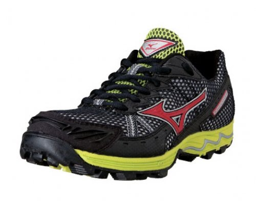 Mizuno Wave Harrier 3 Trail Running Shoes Men Nero/Rosso/Giallo