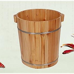 Fuß Bad Barrel, Massivholz Hause 40cm Fuß Bad Barrel, Holz Fuß Spa Becken, Fußmassage Becken, Fuß Bad Barrel Größe: 30 * 40 * 36cm