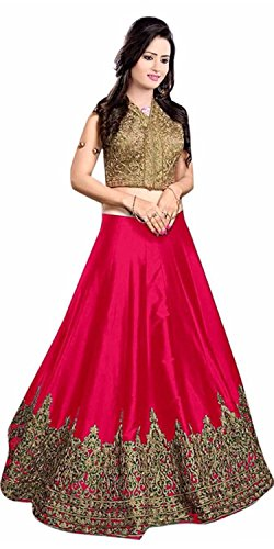 S.B CREATION women pink cotton designer bollywood style lehenga /partywear lehenga/heavy embroidered lehenga