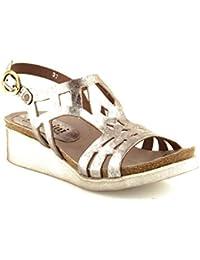 Felmini - Zapatos para Mujer - Enamorarse com Dora 8986 - Sandalias de cuña - Cuero Genuino - Varios colores