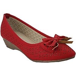 Annabelle Joyce, Mädchen Damen Pumps , Rot - rot - Größe: 40