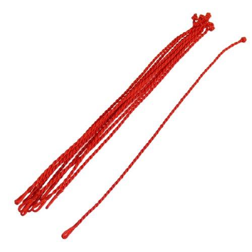10 Pcs Handwerk Rot Braided String Schnur Knot Armband Ende Knot Bracelet Cords de DE