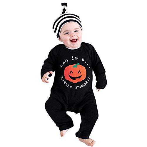 Trikot Kostüm Vampir - Neugeborenes Baby Mädchen Jungen Cartoon Print Strampler Overall Halloween Outfits Baby Langarm Cartoon Kürbis Brief drucken Trikot Haber Crawler Leo ist EIN