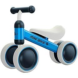 YGJT Bicicleta sin Pedales Bebé Juguetes Bebes 1 año 10 Meses a 24 Meses Triciclo Bicicleta de Equilibrio Regalo Elección