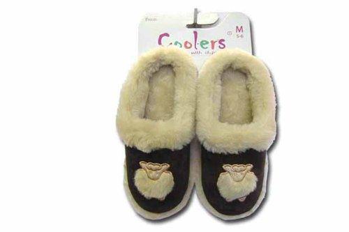 Coolers Pantoufles Motif mouton Clog Taille S (3/4 (moyenne), 5 et 6)-Large (7/8 Marron - beige