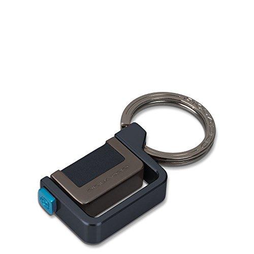 Piquadro PC3344P15/BLU2 Pulse Portachiavi, Blu, 7 cm
