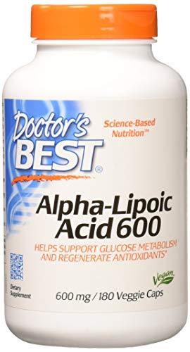 Acid Antioxidant (Doctor's Best Alpha-Lipoic Acid (Alpha-Liponsäure) 180 vegane Kapseln, glutenfrei, sojafrei, 600mg)
