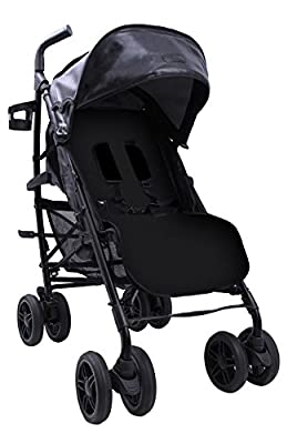 Baby Luxe 3022000200007 - Silla de paseo, chasis negro, base piel negra