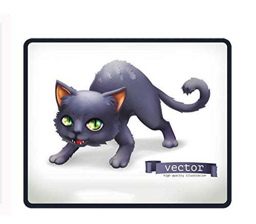 Pad Custom,Cat Happy Halloween,Personalized Design Non-Slip Rubber Mousepad ()