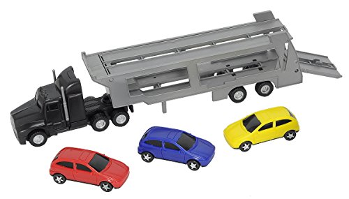 Dickie Toys 203746000 - Autotransporter, LKW-Autotransporter, 32 cm