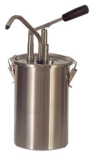 Zylindrischer Edelstahlhebel-Soßenspender, 180x420mm,