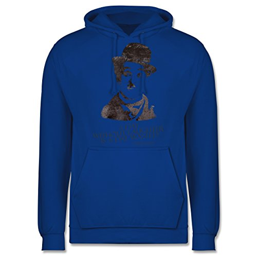 Vintage - Charlie Chaplin - a day without laughter is a day wasted - Männer Premium Kapuzenpullover / Hoodie Royalblau