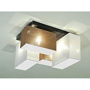Deckenlampe Deckenleuchte Mit Blenden BLEJLS44BRWED Leuchte Lampe 4 Flammig  Holz Kinderzimmer Wohnzimmerlampe Schlafzimmerlampe Küche Lampe