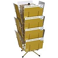 fluhr displays 113010145KK 14Soporte para tarjetas de felicitación para tarjetas postales 185x 135mm (B6), con 6x HF y 8x qf-28