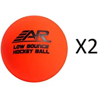 A&R Low Bounce Roller Floor Hockey Ball Orange Above 60 Degree Weather (2-Pack)