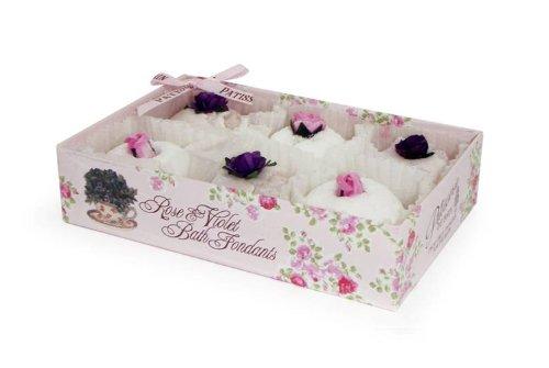 Patisserie de Bain - Galets de bain - Rose et violette - Coffret cadeau - Boîte de 6