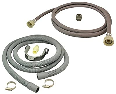 SUDS-ONLINE Universal Fill Water Pipe and Drain Hose Extension Kit for Hotpoint Washing Machines (2.5m)