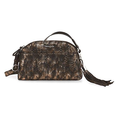 Tamaris Damen Melanie Crossbody Bag Umhängetasche, 2x15x25 cm Bronze