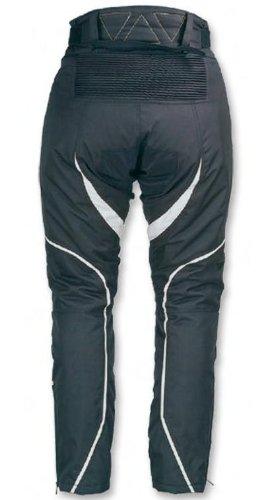 *Damen Motorrad Hose Motorradhose Farbe : schwarz / grau Gr.XL*