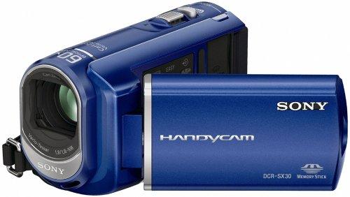 Sony DCR-SX30EL SD-Camcorder (Memory Stick, 60-fach optischer Zoom, 4 GB interner Speicher,...