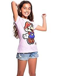 Super Mario T-Shirt Mädchen/ Girls/ Kids Sommer Nintendo C030-850203-f4411 Farbe: Rosa, Gr. 140/146