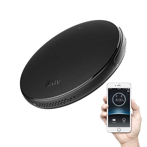 iLuv SmartShaker - Alarma de vibración inalámbrica con Bluetooth, Color Negro