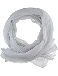 Women's / Ladies' Fashion Glitter Scarf With Six Colours (White)