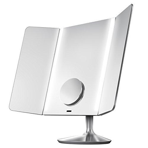 Simplehuman ST3014 Sensor Mirror Pro - Espejo con iluminación inteligente, Wi-Fi/Bluetooth (Aluminio, Acero inoxidable, 0,05 año(s), 51,6x40,9x18 cm)