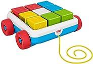Fisher Price - Carrito de Arrastre de Bloques de Actividad, Juguete para Bebés +6 Meses (Mattel GJW10)