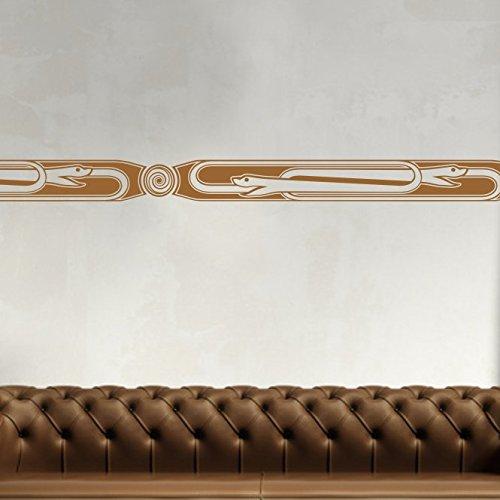 malango Afrikanische Bordüre Wandtattoo Aufkleber Wandaufkleber Dekoration Schlafzimmer Wohnzimmer Styling Design 164 cm x 18 cm lavendel